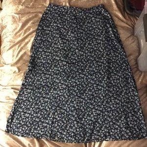 Vintage blue floral maxi skirt